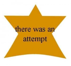 Gold star for not completely giving up to the forces of mediocrity!!